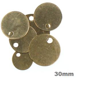 brass discs 30mm image