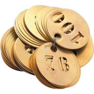 Image of brass discs