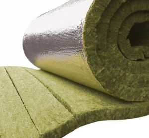 Image of rockfibre lamella mat suitable for heating insulation